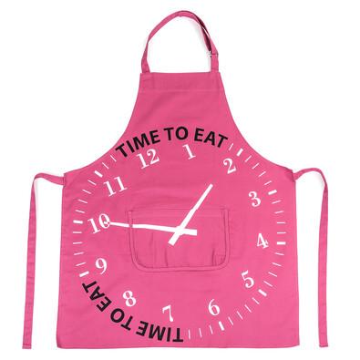 Zástěra TIME TO EAT fialová, 75 x 85 cm
