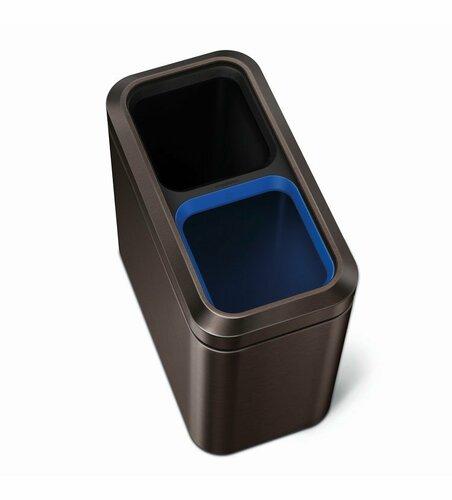 Simplehuman Odpadkový kôš na triedený odpad 20 l, čierna
