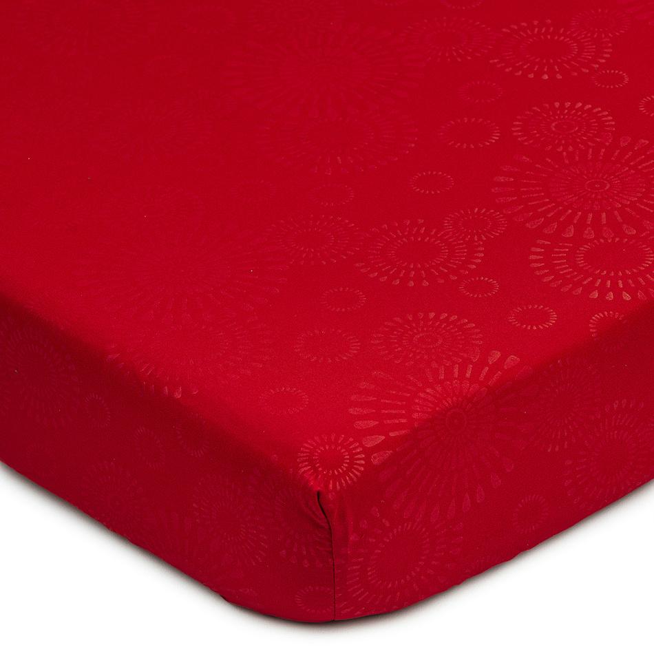BO-MA Trading Prostěradlo Elisa mikrovlákno červená, 180 x 200 cm