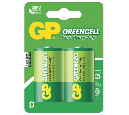 GP Greencell 13G R20 Blistr baterie 2 ks