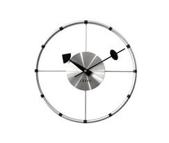 Ceas de perete Lavvu Compass LCT1100 argintiu, diam. 31 cm