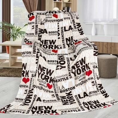 Kemping USA takaró, bézs, 150 x 200 cm