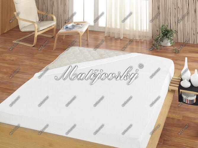 Matějovský prostěradlo froté bílá, 160 x 200 cm