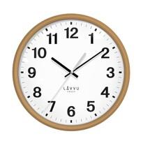 Lavvu LCS4040 nástenné hodiny Essential wood, pr. 30 cm