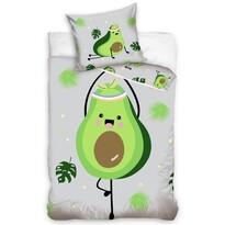 Lenjerie de pat din bumbac pentru copii Avocado, 140 x 200 cm, 70 x 90 cm