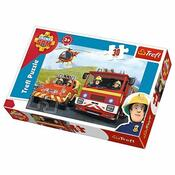 Puzzle Požiarnik Sam na výjazde, 30 dielikov