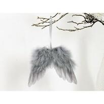 Skrzydła anielskie z pierza 18 x 16 cm, szary