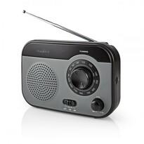 Radio portabil Nedis RDFM1340 AM/FM,gri/negru