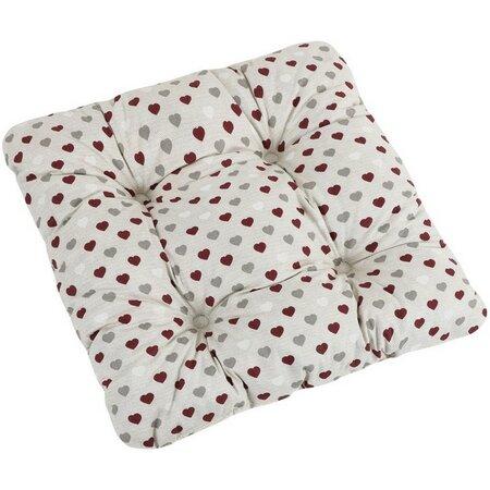 Sedák Adéla Trojbarevná srdíčka, 40 x 40 cm
