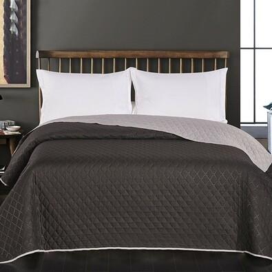 DecoKing Axel ágytakaró, fekete/szürke, 220 x 240 cm