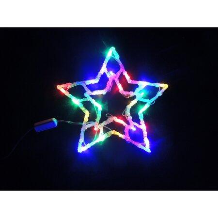 Dekorace do okna Hvězda 24 LED, barevná