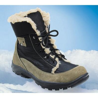 Zimní boty Santé, hnědo-černé, 36