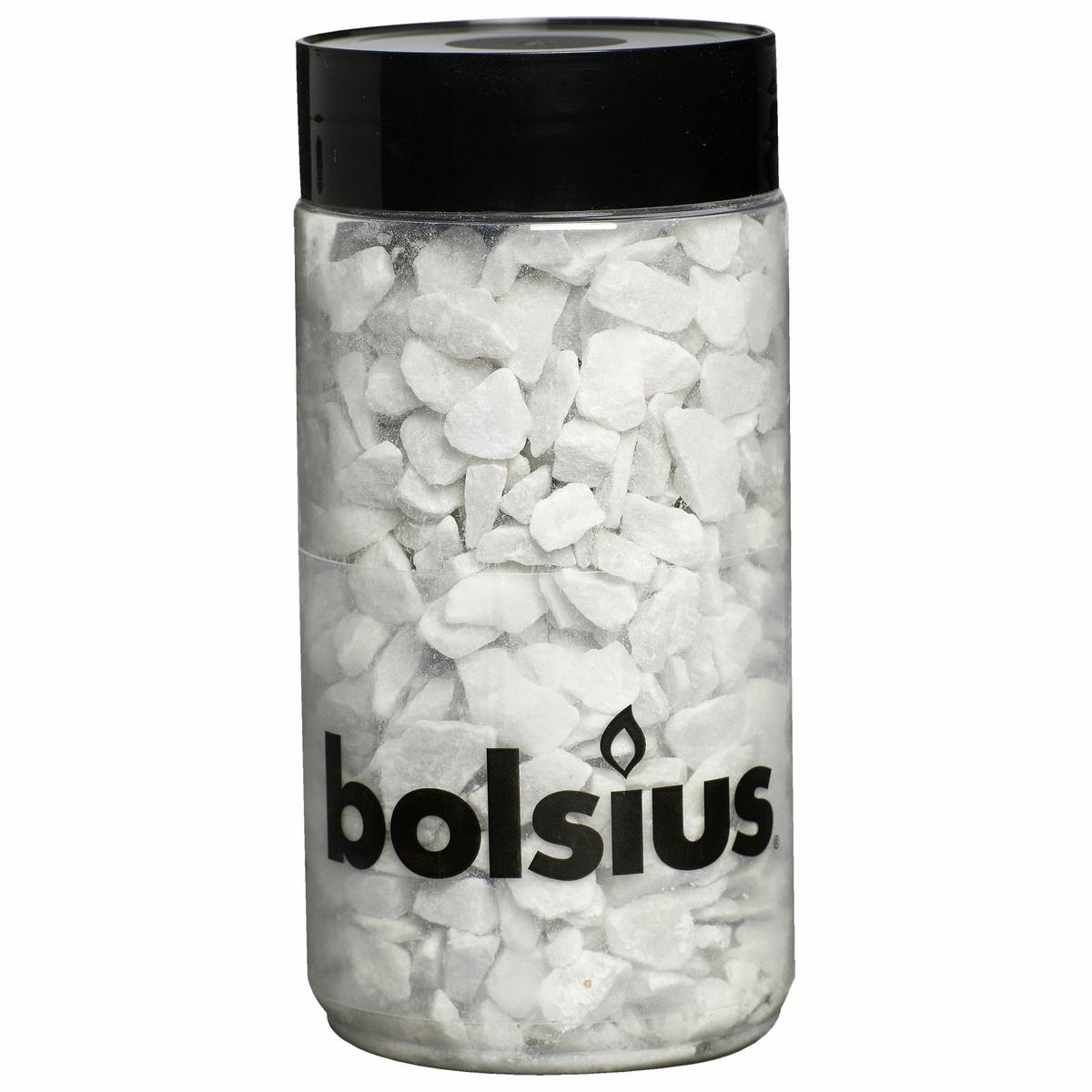Bolsius Dekorační kamínky 13 mm bílá, 550 g