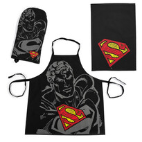 Set de bucătărie Superman, negru