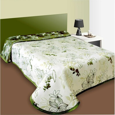 Prehoz na posteľ Lisbon zelený, 140 x 220 cm