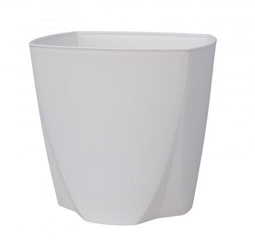 Plastový květináč Camy 16 cm, bílá, Plastia
