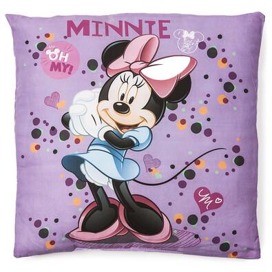 Polštářek Minnie purple, 40 x 40 cm