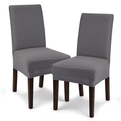4Home Multielastický potah na sedák na židli Comfort šedá, 40 - 50 cm, sada 2 ks