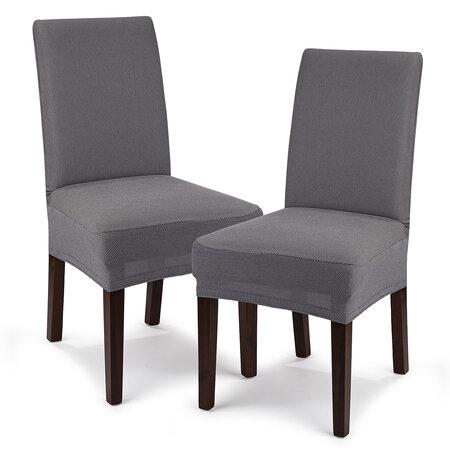 4Home Multielastický potah na židli Comfort šedá, 40 - 50 cm, sada 2 ks