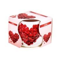 Lumânare parfumată în sticlă Love, 100 g, 7,2 cm