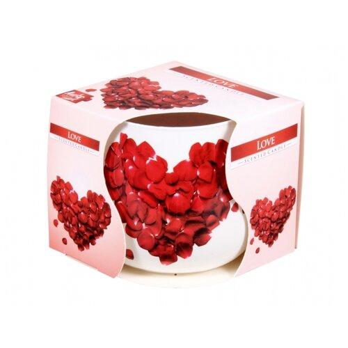 Love illatgyertya üvegpohárban, 100 g, 7,2 cm
