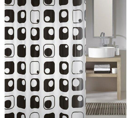 Meusch Koupelnový závěs Quaddra, šedý, 180 x 200 cm