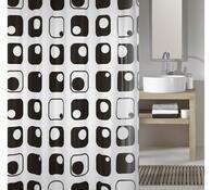 Koupelnový závěs Quaddra, šedý, Meusch, 180 x 200 cm
