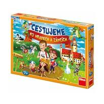 Dino Spoločenská hra Cestujeme po hradoch a zámkoch, 43 x 30 x 5,5 cm