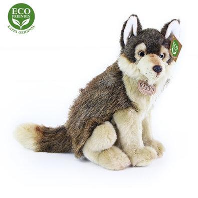 Rappa Plyšový sedící vlk, 28 cm