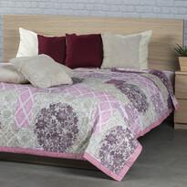 Narzuta na łóżko Ottorino fioletowy