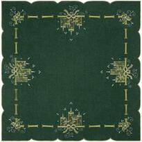 Obrus świąteczny Świeczki zielony, 85 x 85 cm