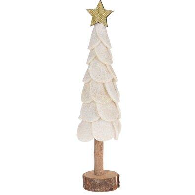 Vianočná dekorácia Felt tree, biela