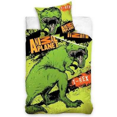 Bavlněné povlečení Animal Planet T- Rex, 140 x 200 cm, 70 x 80 cm