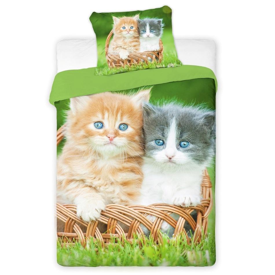 Jerry Fabrics Povlečení fototisk Kočky 2016 140x200 70x90