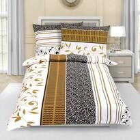Lenjerie de pat din crep Frunze, maro