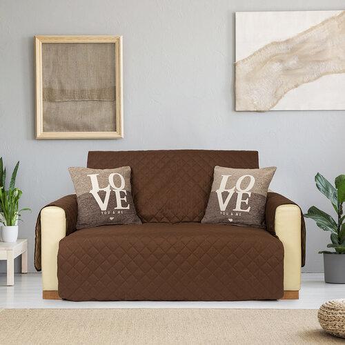4Home Prehoz na dvojkreslo Doubleface hnedá/béžová, 140 x 220 cm
