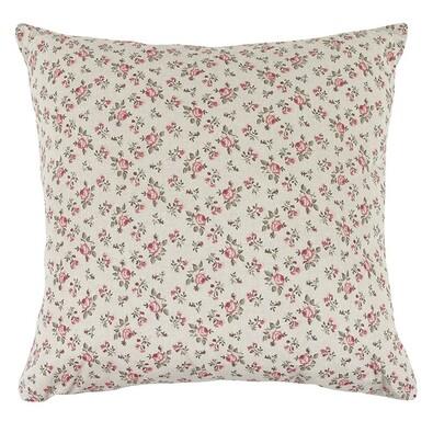 Polštářek Ivo růžička růžovo šedá, 45 x 45 cm