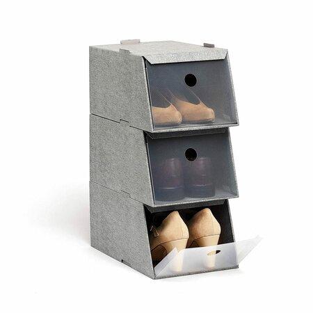 Domopak Living Úložné boxy na obuv, 3 ks, hnědá