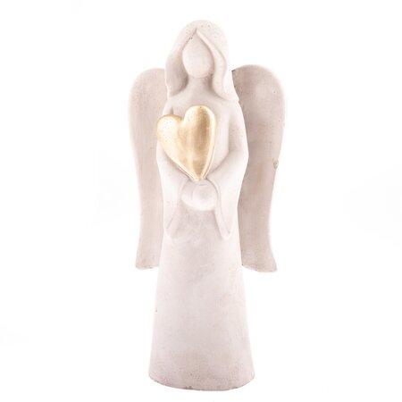 Betonový anděl se srdcem, 27,5 cm