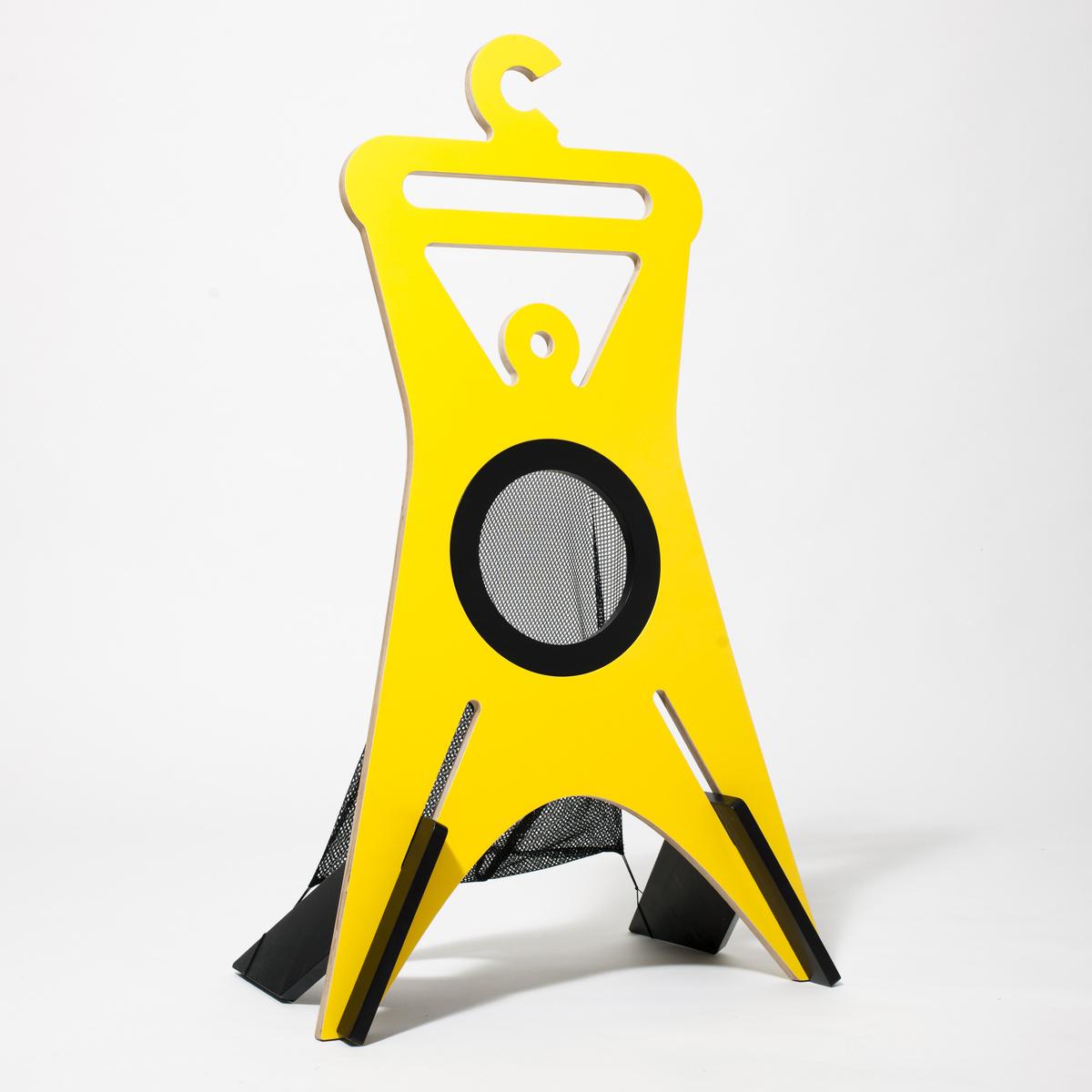 Cvakhaus němý sluha TONDA 949 x 556 x 355 mm žlutý