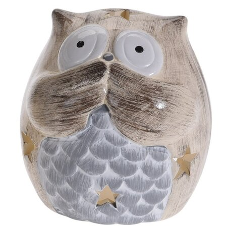 Sfeşnic ceramic Silent Owl, 9 cm