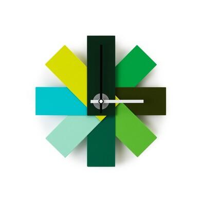 Nástěnné hodiny Watch me, zelené