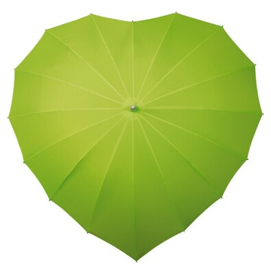 Dámský holový deštník srdce Heart zelená
