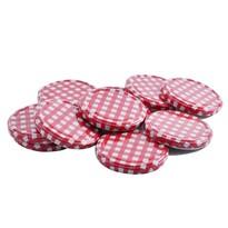 Set capace cu filet Orion Karo, 10 buc., 8,2 cmroșu,