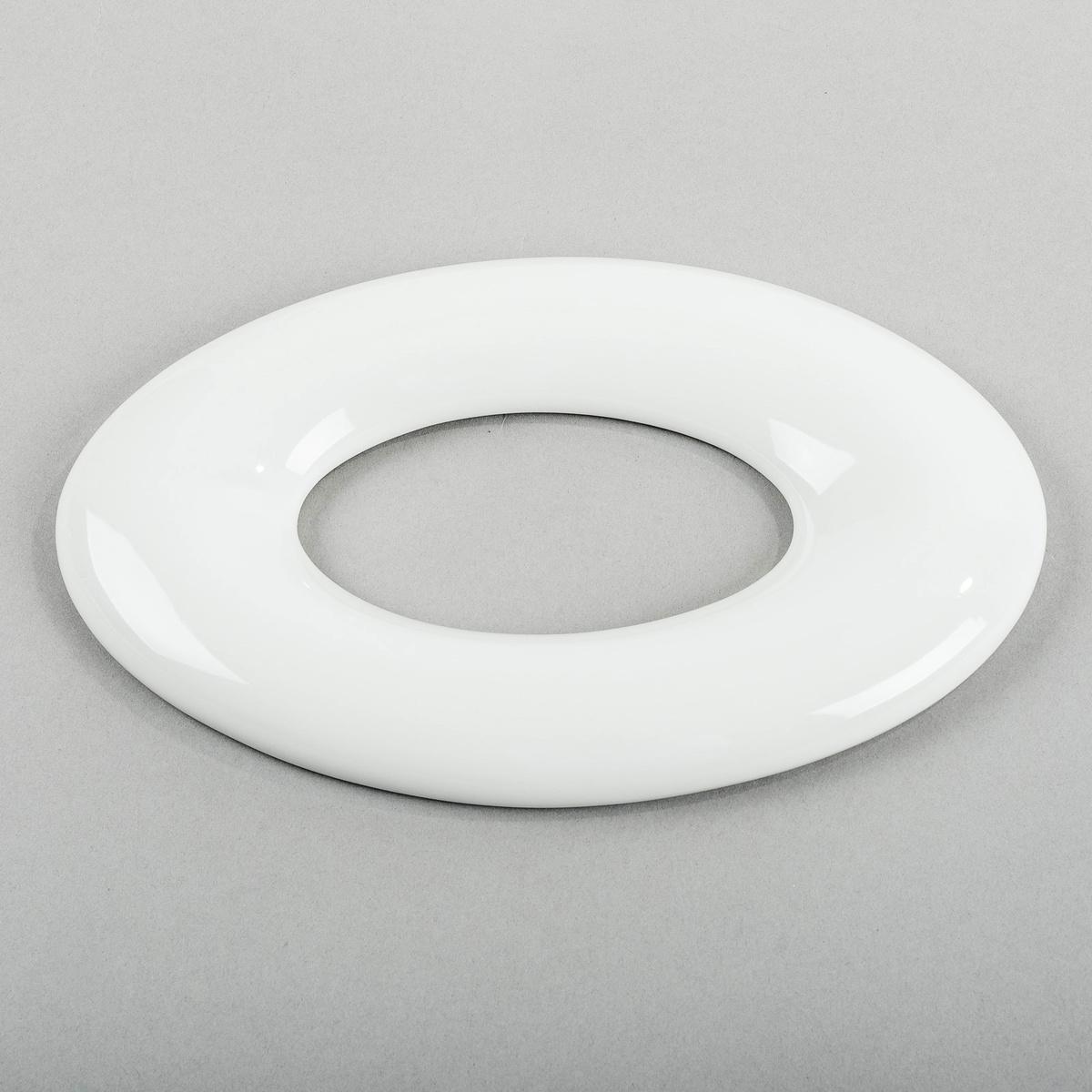 Studio Pirsc Porcelain 3D tapeta OVAL 24 cm, biela