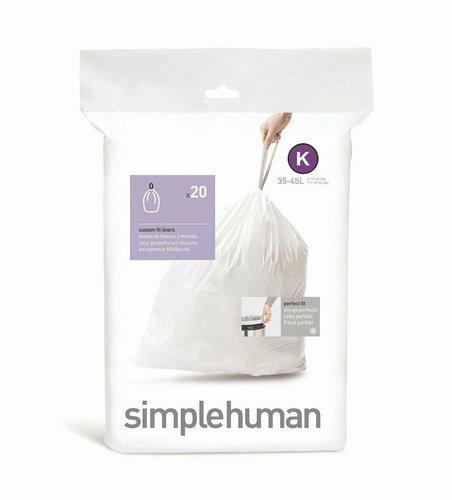 Simplehuman zsák szemeteskosárba K 35-45 l, 20 db