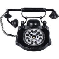 Asztali óra Old telephone, fekete