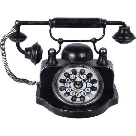 Koopman Asztali óra Old telephone, fekete