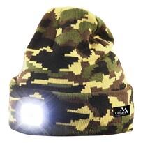 Cattara Czapka z latarką LED Army, zielony