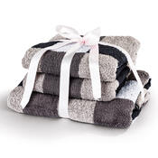 Sada ručníků a osušky Exklusive šedá, sada 3ks